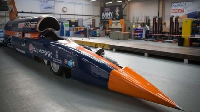 Blood Hound Supersonic - The Fastest Car of the world 1600 KM per hour